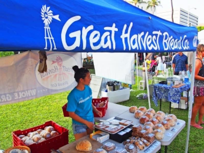全米展開のパン屋、グレート・ハーベスト・ブレッドも出店。100%全粒粉を使用したずっしりとしたパンなのに、やわらかくモチモチと美味しい