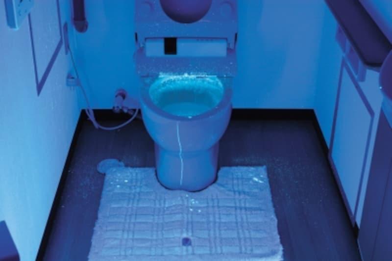 臭うトイレの原因の1つは、男性の尿の飛沫。ブラックライトで映してみると……!?