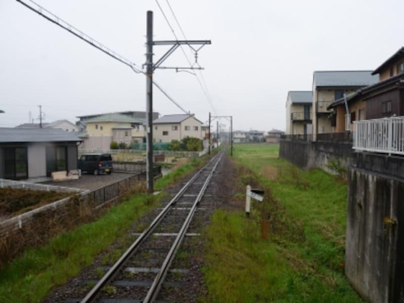 西日野駅付近の風景