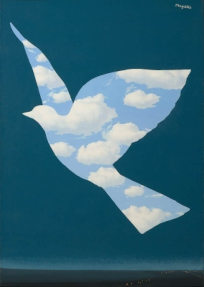 《 空の鳥 》 1966年undefined油彩/カンヴァスundefined68.5 x 48 cm ヒラリー&ウィルバー・ロス蔵 Hilary & Wilbur Ross ? Charly Herscovici / ADAGP, Paris, 2015 ? Phototh?que R. Magritte / BI, ADAGP, Paris / DNPartcom, 2015