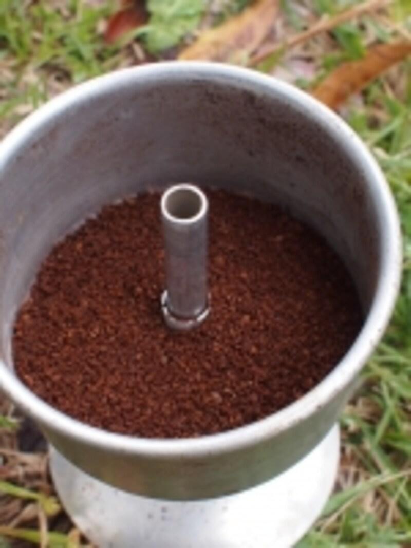 粗挽きの豆