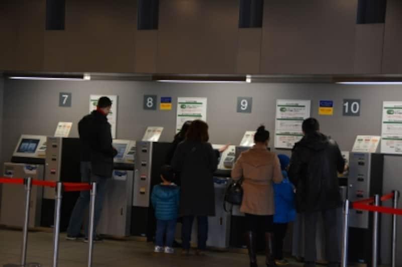 電車の切符を買う要領でチケットを購入