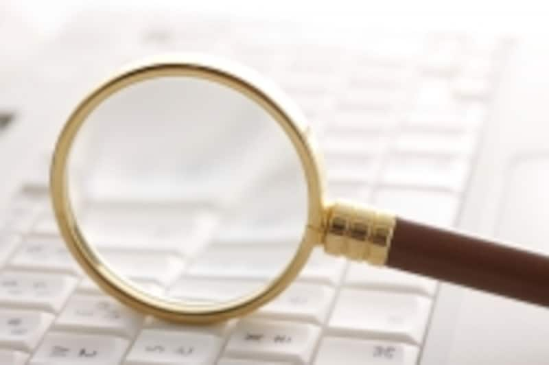 PCと虫眼鏡