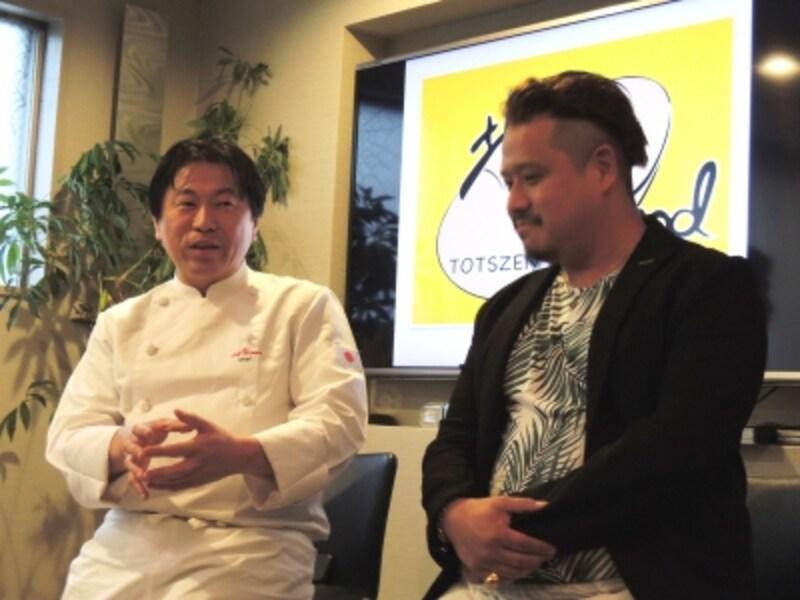 奥田政行さん(左)、岸本拓也さん(右)