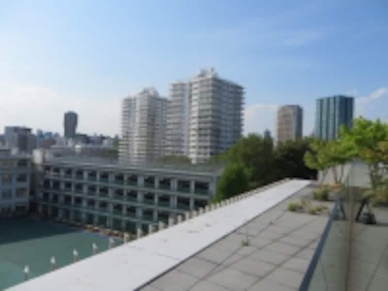 三田綱町パークマンションを高いところから