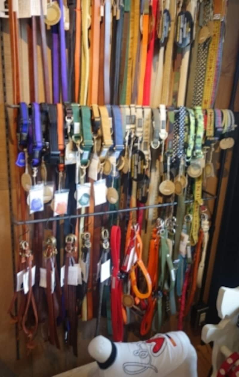 種類豊富でスタイリッシュなリードがたくさん!左下はsafujiとコラボした革製