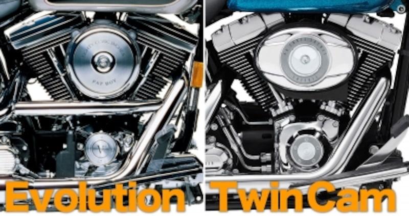 1984年から1999年までがエボリューションエンジン、2000年から現代までがツインカムエンジン