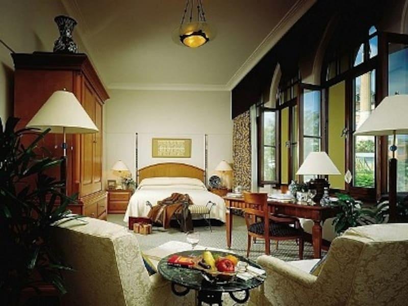 スルタンアフメット地区のホテルとしては異例の広さ(写真はスイートルーム)