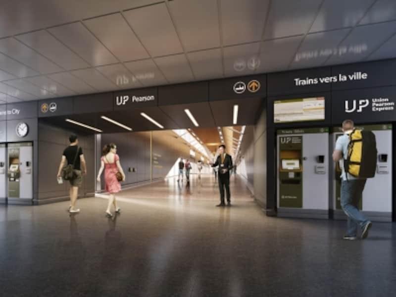 トロント国際空港駅への入り口(イメージ画像)(C)Metrolinx