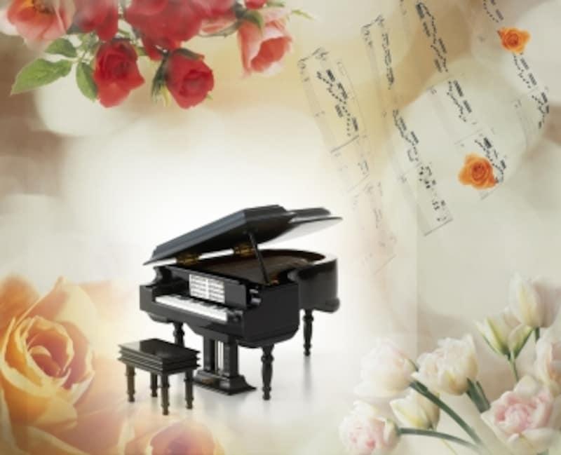 楽譜とピアノの写真