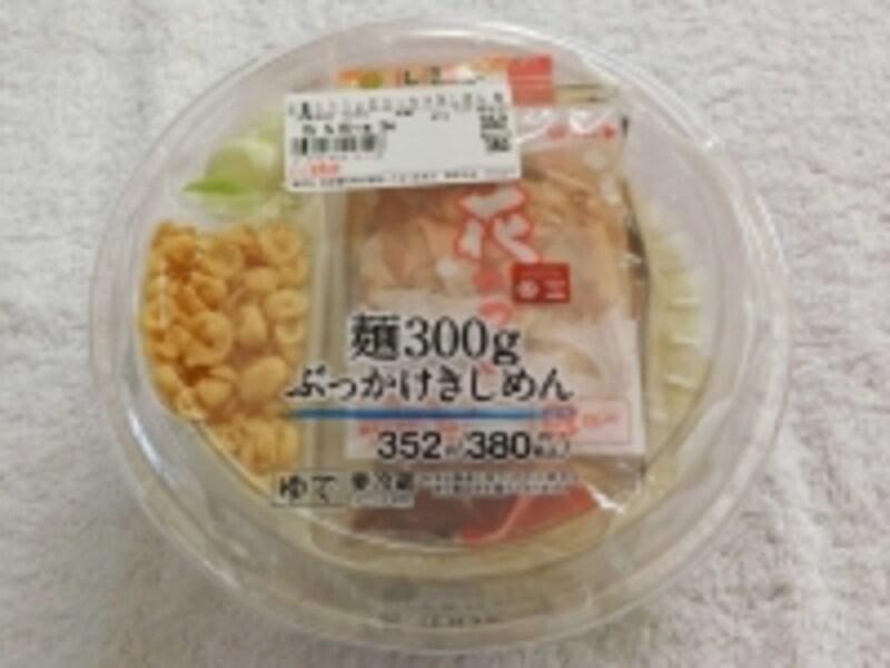 麺300gのぶっかけきしめんパッケージ