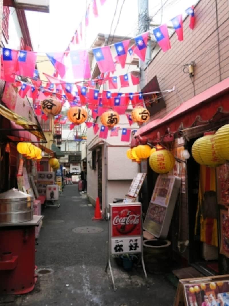 横浜中華街の路地裏のシーンもありましたね!
