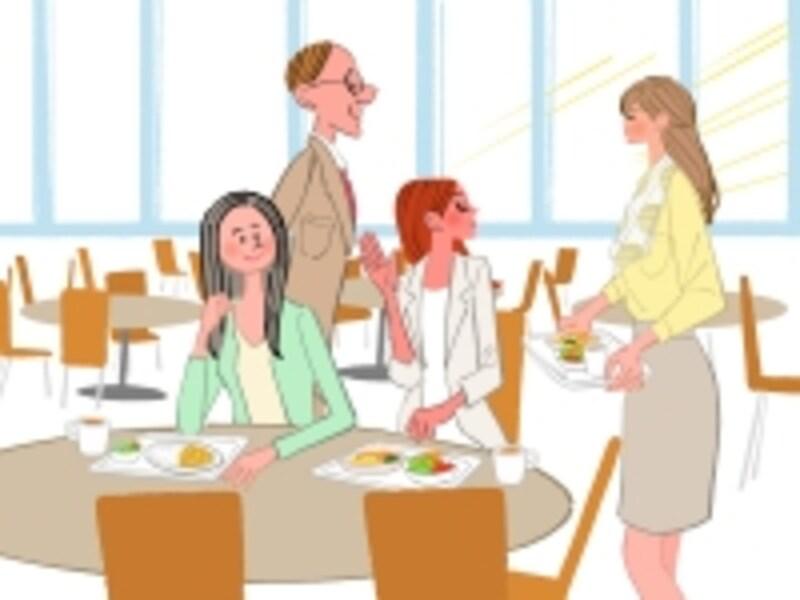 お昼休み、社員食堂にできるのは清算を待つ長い列