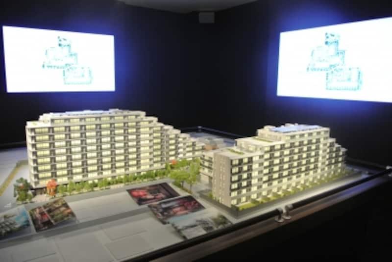 「ザ・パークハウス千歳烏山グローリオ」の完成予想模型