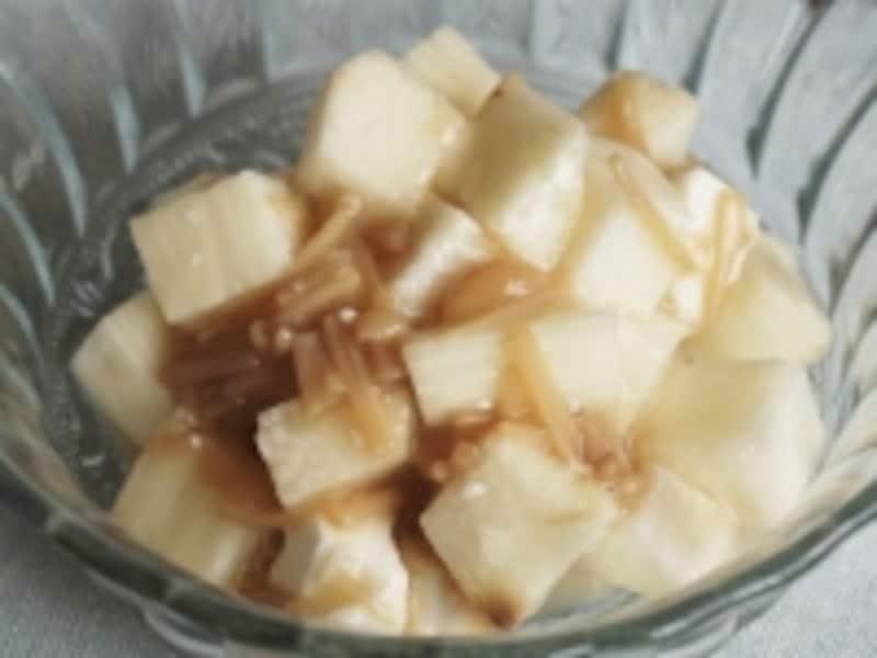 長芋とクリームチーズのなめたけ和え