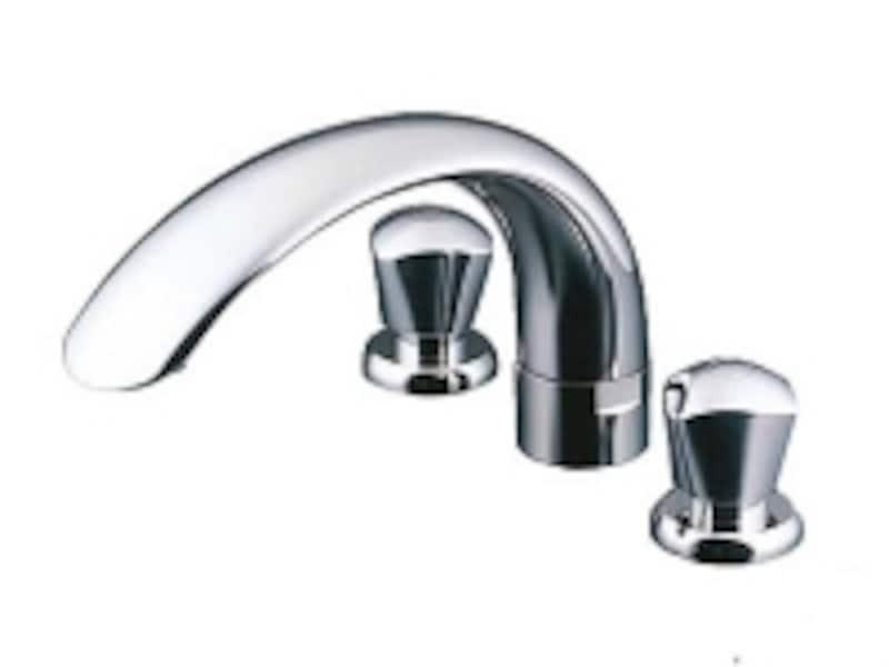 曲線が美しい2ハンドルバス水栓(台付きタイプ)[ニューウエーブシリーズ]