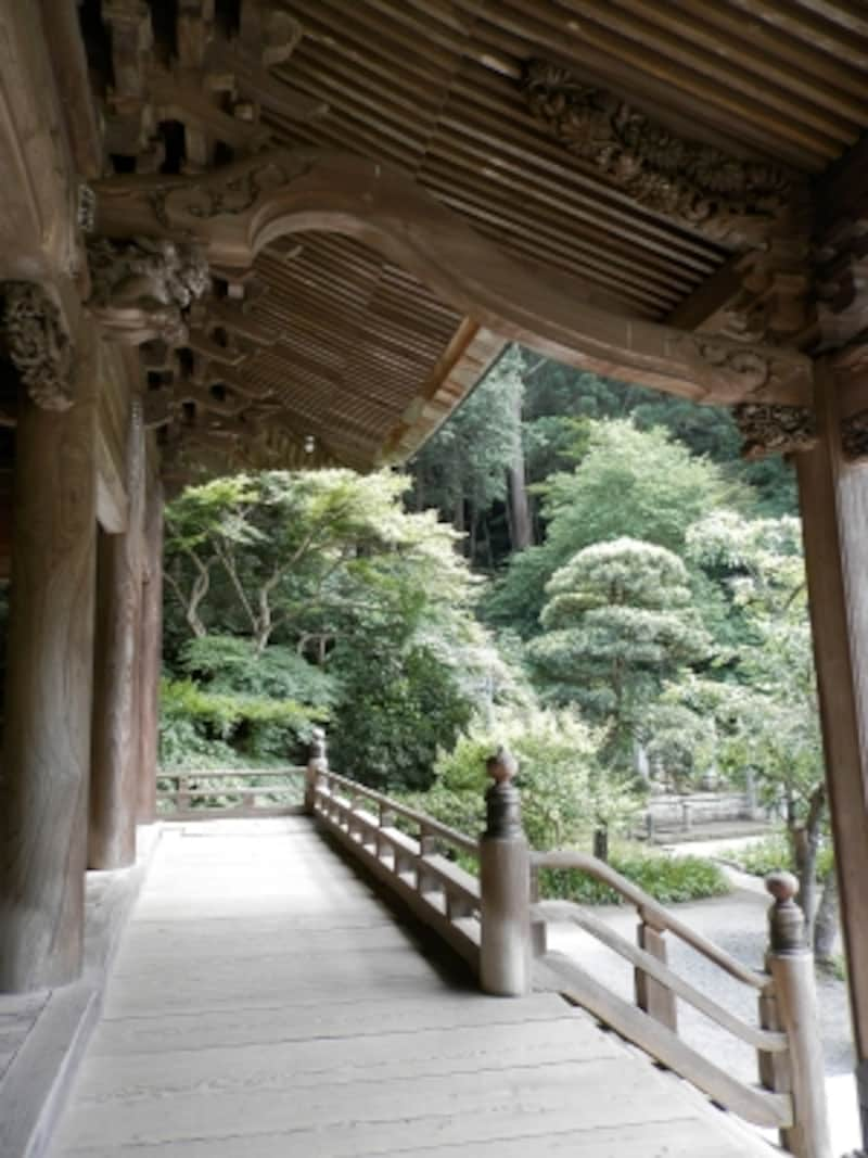 妙本寺の回廊