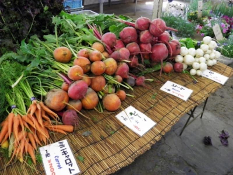 「レンバイ」の野菜