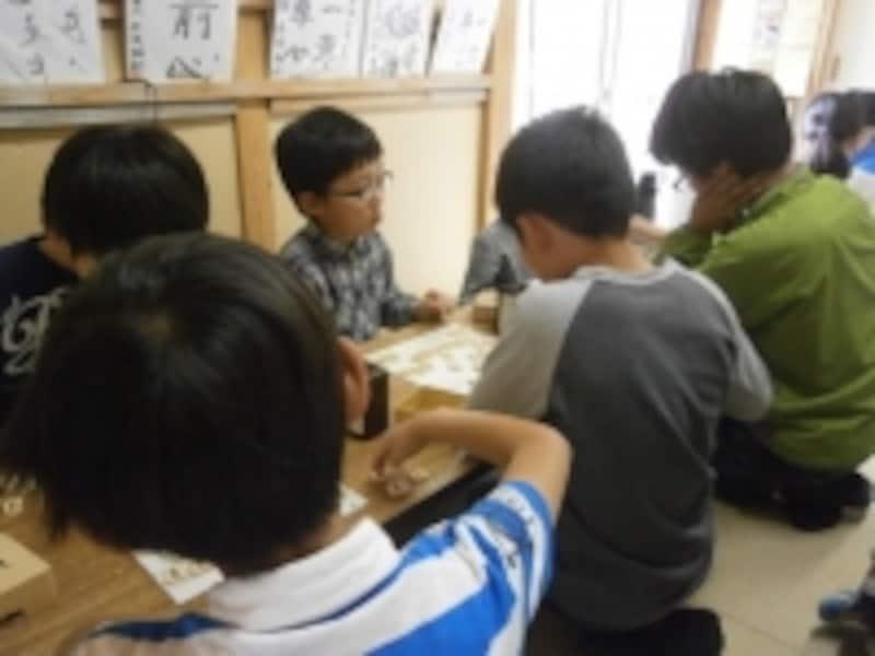 将棋教室での子ども達