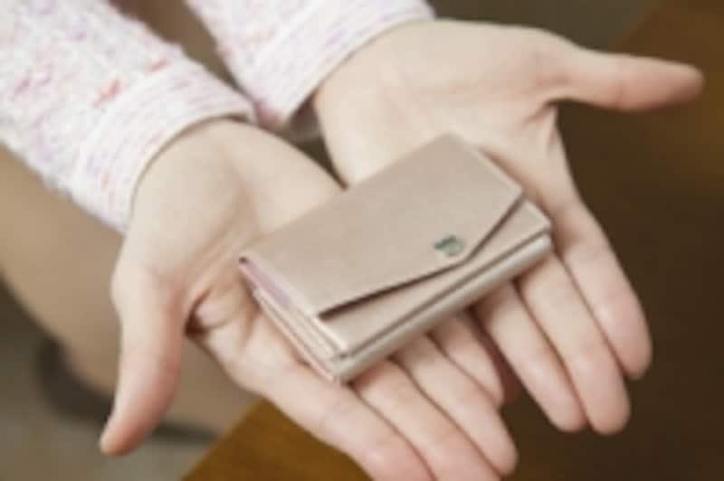 手のひらに乗るミニ財布!