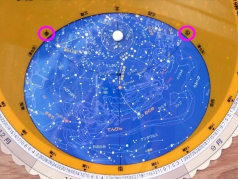 星座早見盤方角
