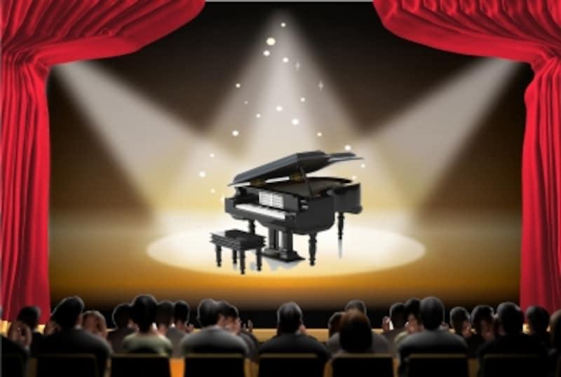 ステージとピアノのイラスト