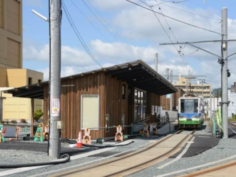 工事中の田原町駅
