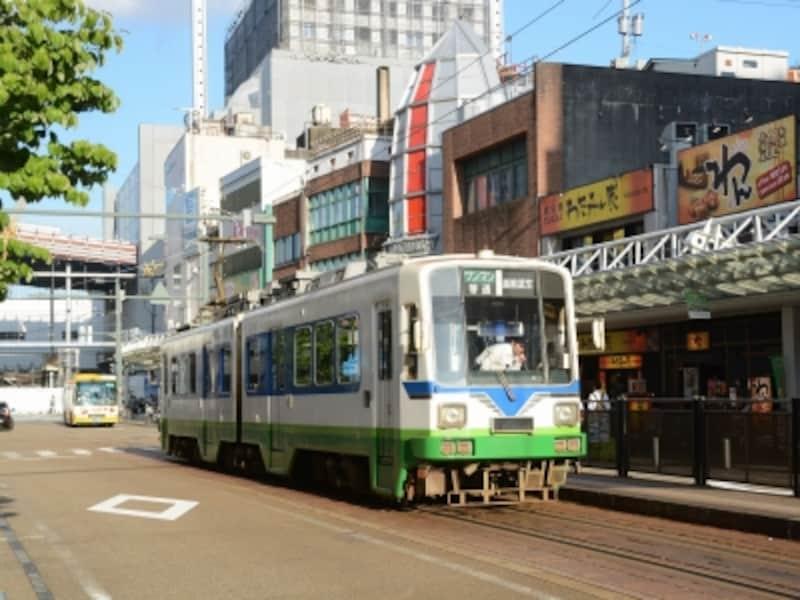 福井鉄道の福井駅前電停
