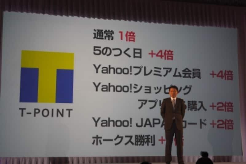 ソフトバンクはTポイントのキャンペーンを展開