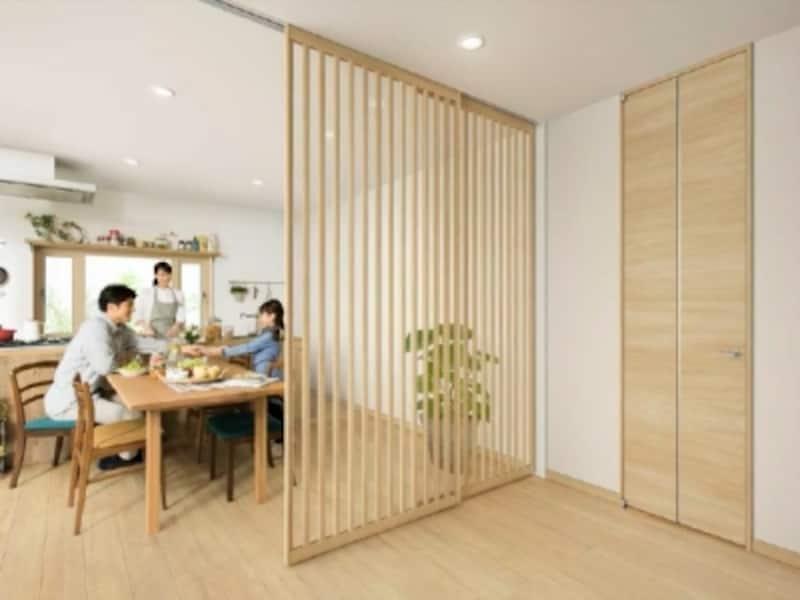 アルミインテリア建材「スクリーンパーティション」Jタイプ施工例
