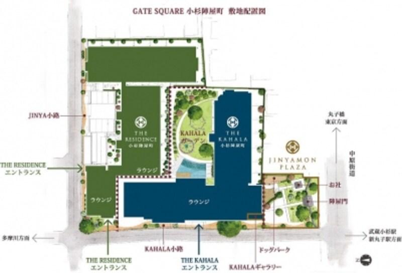 「ゲートスクエア陣屋町」の敷地配置図