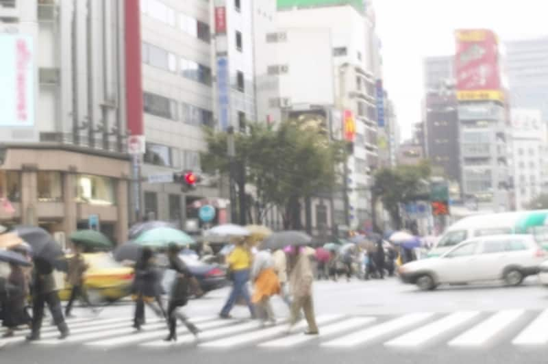 雨模様の銀座
