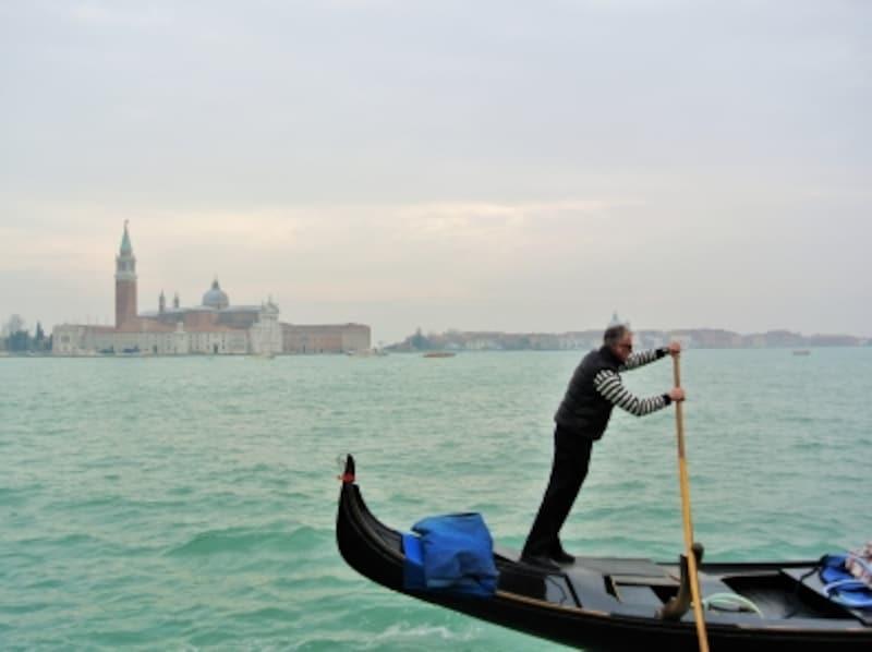 アドリア海からヴェネツィア中心部側をみた風景