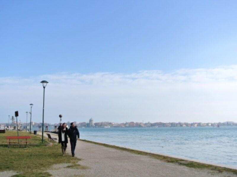 S.ELENA公園はヴェネツィアの方の憩いの場なのだそう