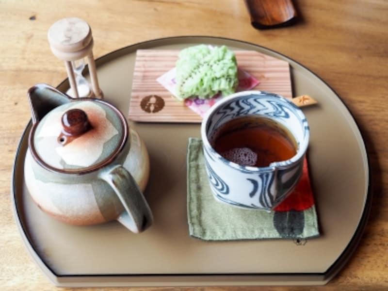 和菓子と加賀棒茶@cafe素都