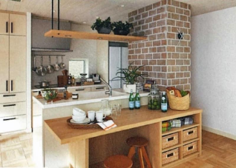 家族や友人と一緒に使えるキッチンなら、料理も片付けも楽しく進められます