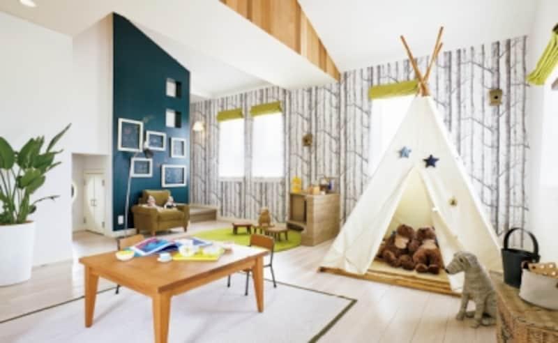 小さい時は空き部屋になりがちな子ども部屋も、間取りやインテリアの工夫で楽しいプレイルームに