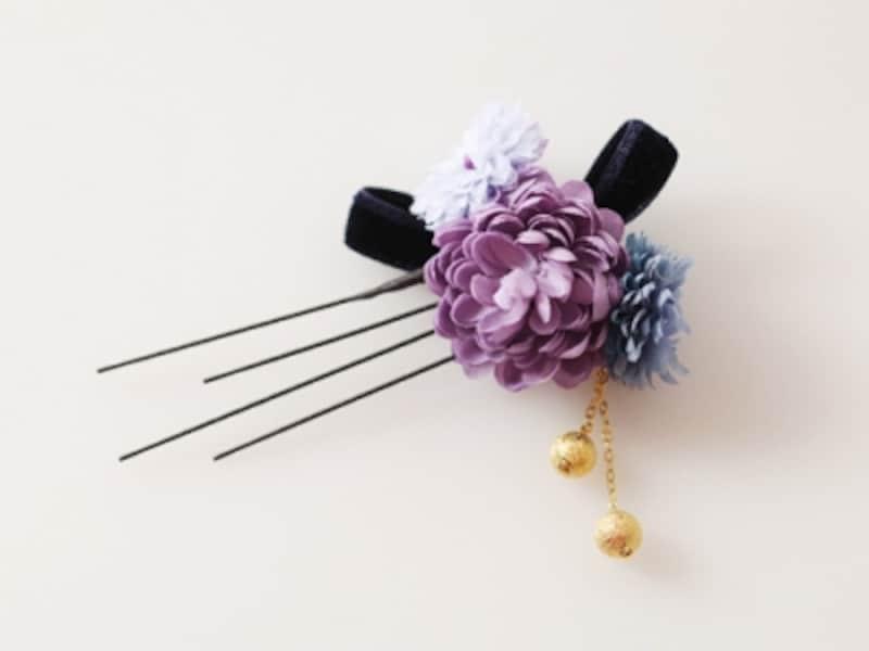 花モチーフの髪飾り