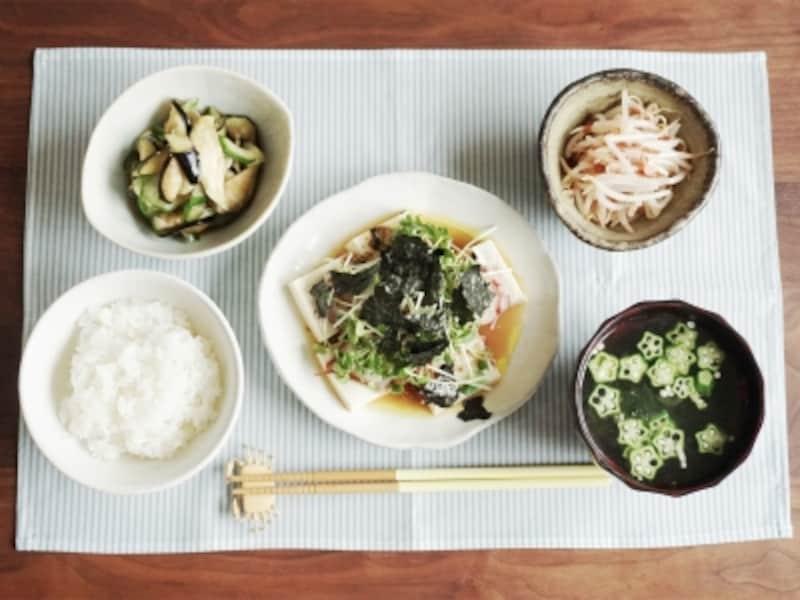 タコと豆腐の和風カルパッチョ定食