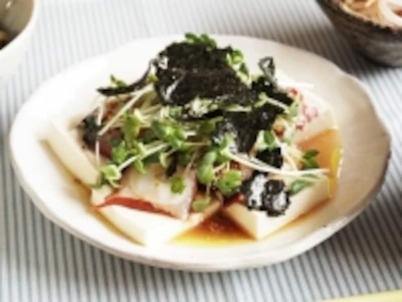 タコと豆腐の和風カルパッチョ