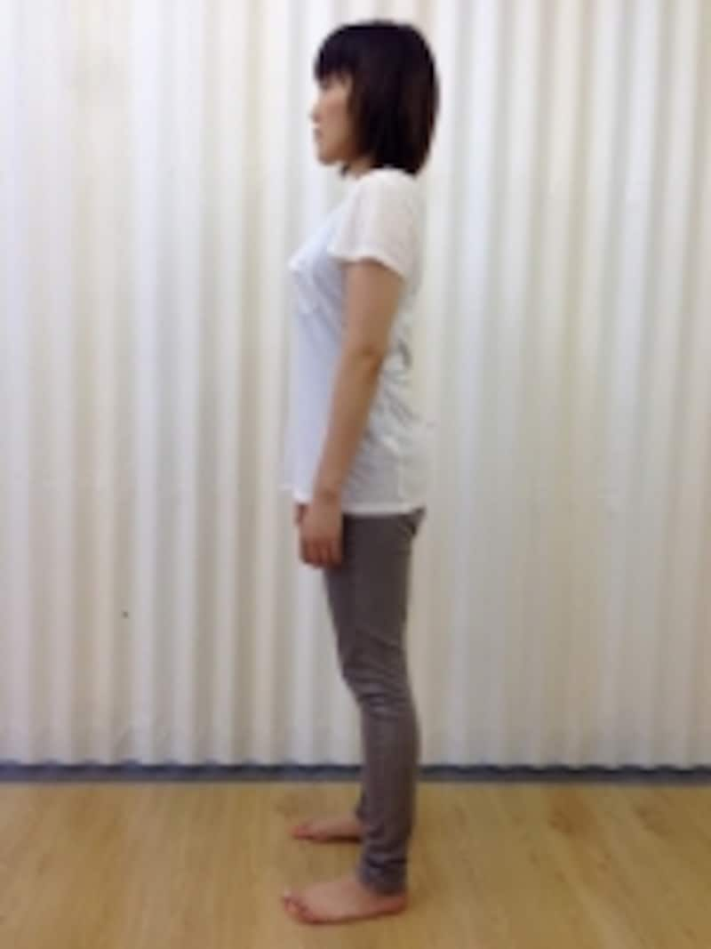 伸びた姿勢の図