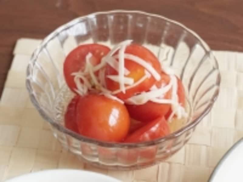 ミニトマトと新生姜の梅酢マリネ