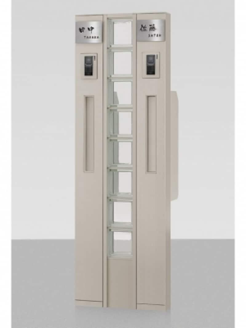 表札、ポスト、インターホンを組み入れた機能門柱。2世帯用でも場所をとらないすっきりとしたデザイン。[ファンクションユニットウィルモダンスリム組み合わせ例15-12undefinedシャイングレー]undefinedLIXILundefinedhttp://www.lixil.co.jp/