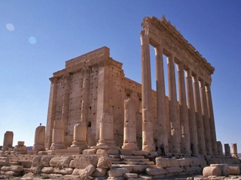 ベル神殿の至聖所。この神殿は、大地の神ベル、太陽の神ヤルヒボール、月の神アグリボールの3神を祀っている©牧哲雄