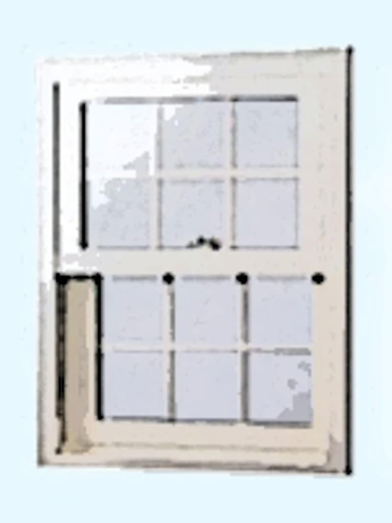 上げ下げ窓またはダブルハング・ウインドウと呼ばれる窓