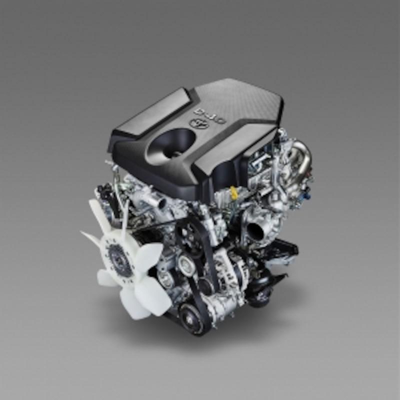 新開発となる2.8Lクリーンディーゼルエンジン「1GD-FTV」を搭載