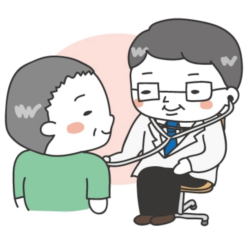 【カラー】診察のカットです。