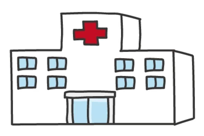 【カラー】病院の建物カットです。