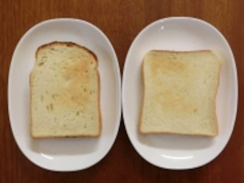 金の食パンと毎日の食パントースト後