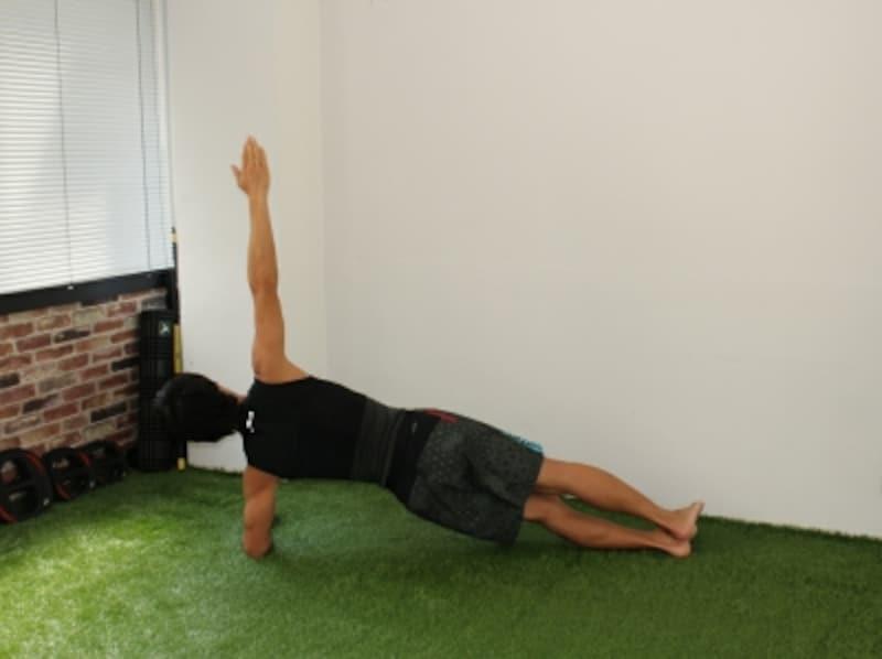 体幹トレーニングで腹筋を鍛えるお腹をへこます筋トレプランク:お尻が下がらない様に